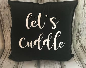 Let's Cuddle Cushion Cover