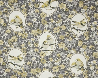 Richloom BUDGIE TWILL Color Canary Birds Home Decor Drapery Upholstery Sewing Fabric By the Yard BTY