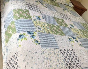 Brand new assorted patchwork quilt coverlets 3 piece sets size queen 100% cotton