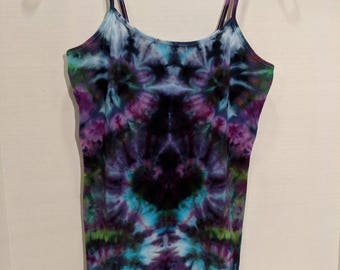 Mystical Nights tie dyed tank top size large