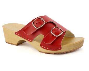 Clogs Moccasins Wooden clogs Women clogs Leather clogs Clog Womens red clogs Boots Womens moccasins Wood clogs Clogs boots Clogs sandals