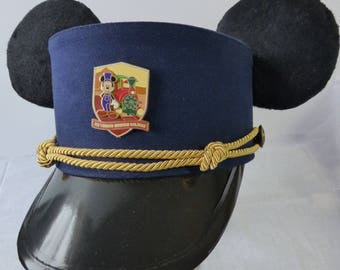 Custom Mickey Ears Big Thunder Mountain Railroad Conductor Hat, Train Conductor hat