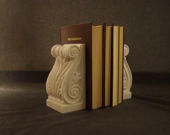 Bookends , Handmade Marble Bookends, Marble Sculpture, Handmade art, greek marble art
