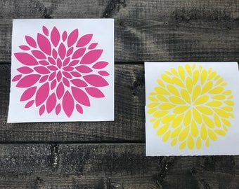Flower Decal/ Gift/ Decal/ Birthday Gift/ Sticker/