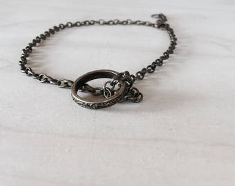 Vintage style ring choker necklace