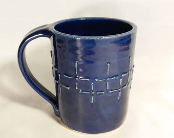 Cross Mugs - Blue