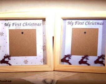 My First Christmas Box Frame (Baby's First Christmas)