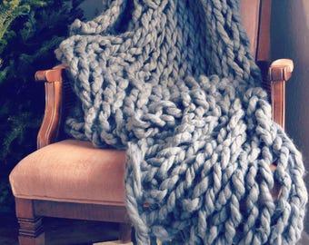 Handmade Arm Knit Blanket