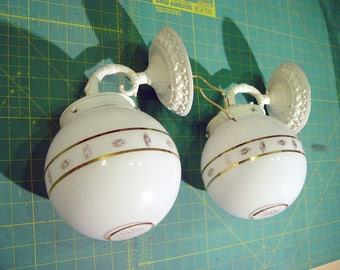 2 Vintage Mid Century MOE Lighting Wall Sconce Lamps Thomas Industries Buy 1 Get 1 Free!