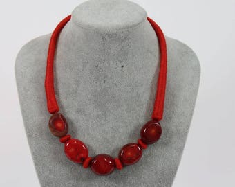 Necklace necklace coral - beautiful & rare
