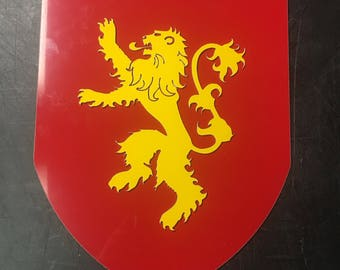 Game of Thrones House Lannister Lion Sigil Metal Sign