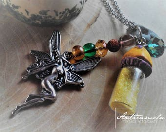 The Fairy Circle necklace-the circle of the fairies-natural hag stone