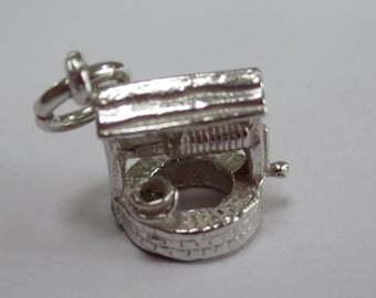 Sterling Silver Charm - Wishing Water Well