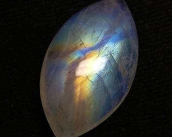 Rainbow Moonstone Marquise Designer Cabochon,29x15x6 MM, Multi Flash Moonstone ,AAA, Loose Gemstone, Smooth Cabochon.