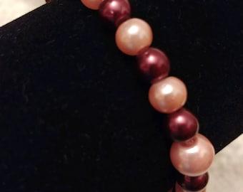 Pink and Burgundy Bracelet