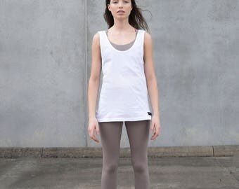 Organic Cotton Singlet - White