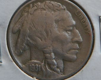 1931-S Buffalo Nickel Very Fine Condition Better Date