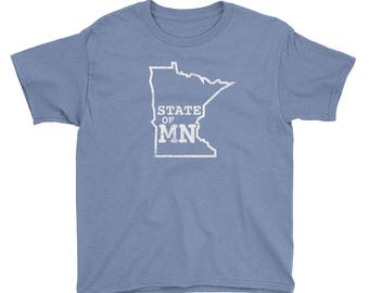 State of Minnesota - Home MN State Gift Tees Youth Short Sleeve T-Shirt
