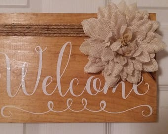 Welcome Wood Sign Home Decor