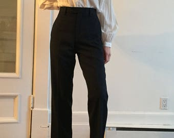Yves Saint Laurent classic navy trousers