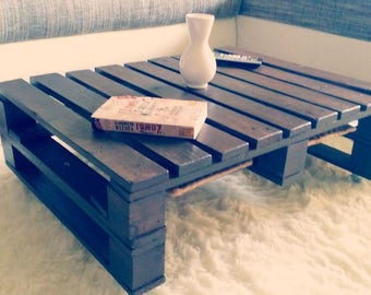 Pallet furniture. Coffee table.