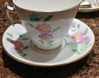 Phoenix Bone China Floral Tea Cup and Saucer