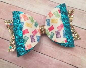 Gummy Bears, Glitter, Glitter Bow, Bears, Candy