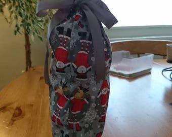 Fabric wine bottle bag