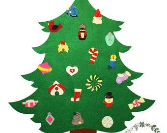 Felt Christmas Tree, Felt Tree, Christmas Gift, Children Christmas Gift, Christmas ornaments
