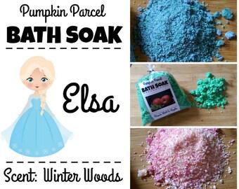 Elsa Bath Salts, Frozen Bath Salts, Bath Bomb, Bath Soak, Woodsy Bath Salts, Winter Bath Salts, Princess Bath Salts, Relaxing Bath Salt