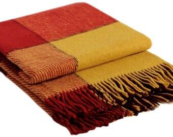 Wool Throw from sheepskin