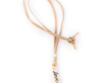 Love Ceramic Pendant Necklace