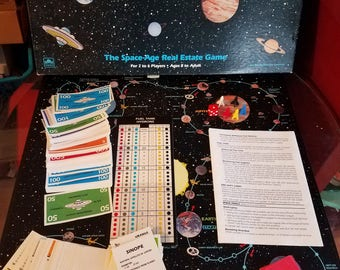 Vintage 1980's Solar Quest Board Game Complete