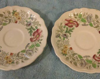 Royal Doulton Stratford D 6196 Tea Saucers