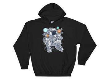 Astronaut Hoodie - Space Hoodie - Ice Cream Hoodie - Galaxy Hoodie - Graphic Hoodie - Spaceman Hoodie - Foodie Hoodie - Science Hoodie