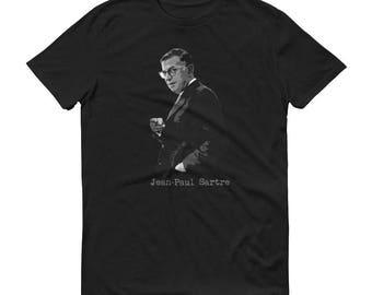 Sartre Existentialist Philosopher t shirt