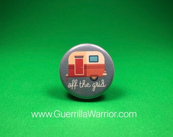 Off the GRID! (1.25 inch pinback button)