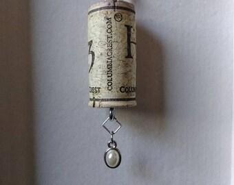 Pearl Cork Keychain