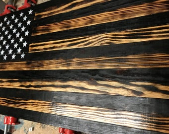 American Wood Flag,36x19,Burnt