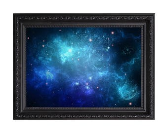 Deep Space 'Aqua Oblivion Bliss ' Galaxy Nasa Poster or Art Print