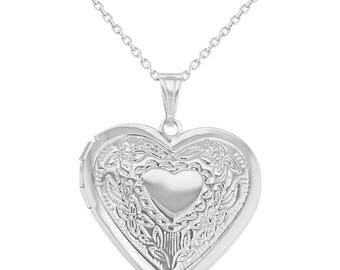 Beautiful Vintage 925 Silver Photo Locket Necklace