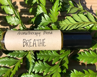 BREATHE • Aromatherapy Blend • congestion & cough • all natural