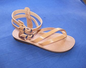 FELICIA No 275 Traditional Greek LEATHER SANDALS - Women's