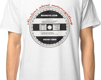 Inished Productions Timing Disc inspired classic retro bespoke urban Motorcycle T-Shirt Melimoto