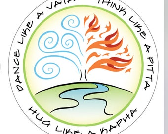 Ayurvedic Decal featuring Vata, Pitta and Kapha by Love Your Dosha