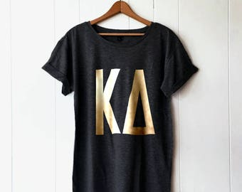 Custom sorority etsy for Custom greek letter t shirts