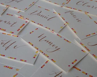 Customized Fall Place Cards