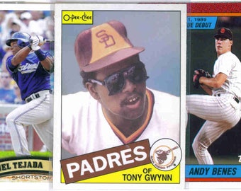 SAN DIEGO PADRES Baseball Team Lot - 250 Assorted Cards
