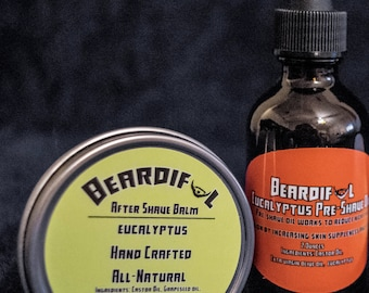 Eucalyptus Pre-Shave Oil and Post-Shave Balm set