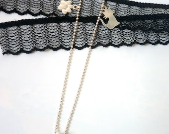 Fine and elegant necklace with Swarovski-Kristal_l_ *